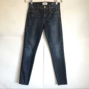 FRAME Le High Skinny Jeans in Dark Wash Size 26